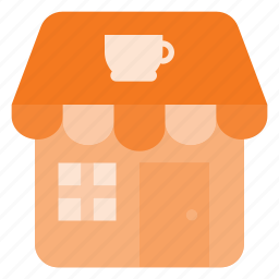 architecture, building, coffee, landmark, place, shop icon