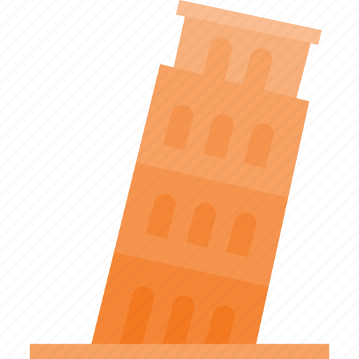 architecture, building, landmark, pisa, place, tower icon