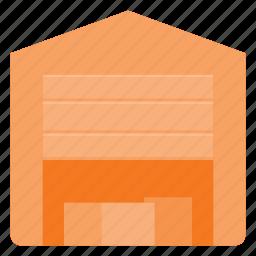 architecture, building, garage, landmark, place, torage icon