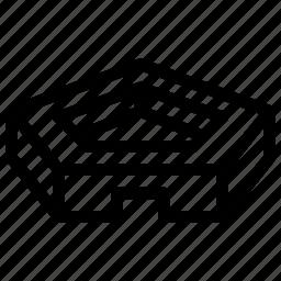 geometric, geometry, pattern, pentagon, shape icon