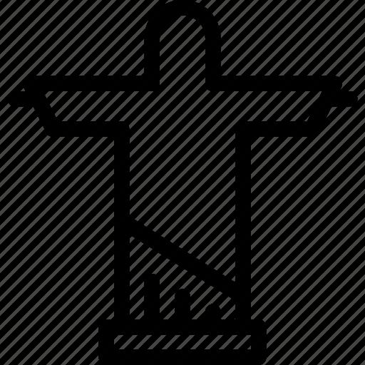 christ, de, jan, janeiro, rio icon