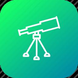 astronomy, glass, lense, sky, spectrum, telescope, tracker icon