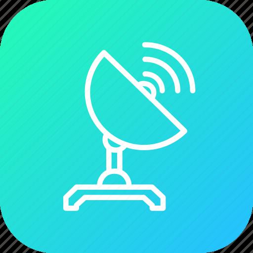 communication, radio, satellite, spaceship, telescope, tracker, wave icon