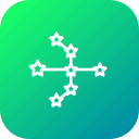 astrology, bow, galaxy, pattern, shape, space, star icon