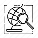 earth, global, globalsearch, research, research icon, search, seo icon