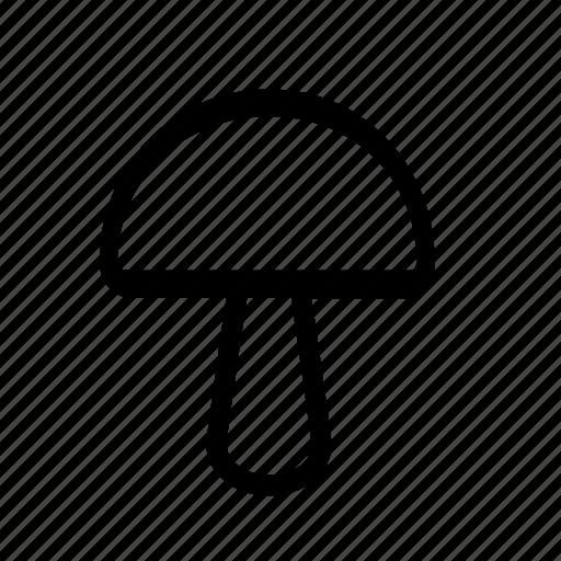 mushroom, nature icon