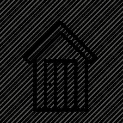building, construction, garden, gardening, house, warehouse, wooden icon