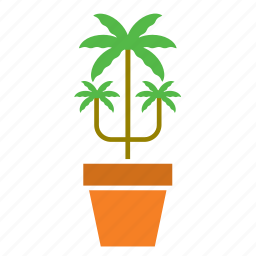 decoration, garden, nature, pal, plant, pot, tree icon
