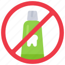 no, plastic, pollution, reduce, thoothpaste, tubes icon