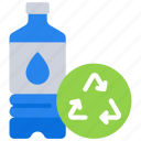 bottle, plastic, pollution, recycle, reuasble, water icon