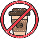 coffee, cups, no, plastic, pollution, reusable icon