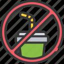 contamination, no, ocean, plastic, pollution, straws icon