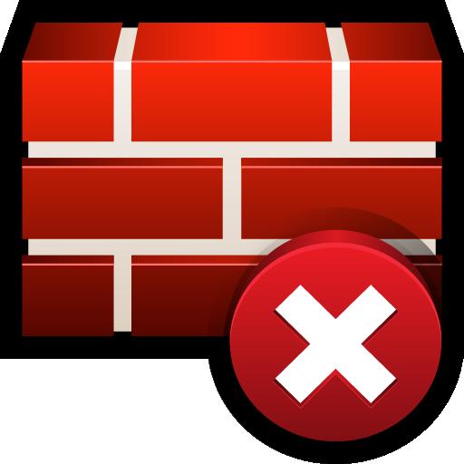 clear, error, firewall, safety, shield icon