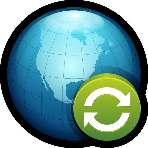 globe, network, refresh, reload, web, world icon