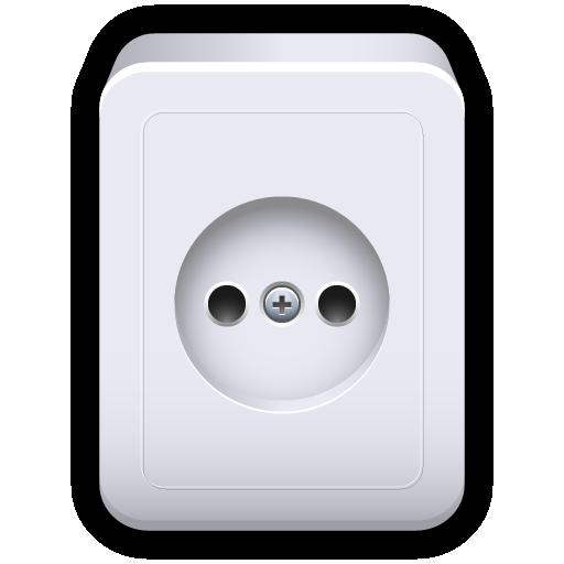 electricity, plug, power, socket, standard icon