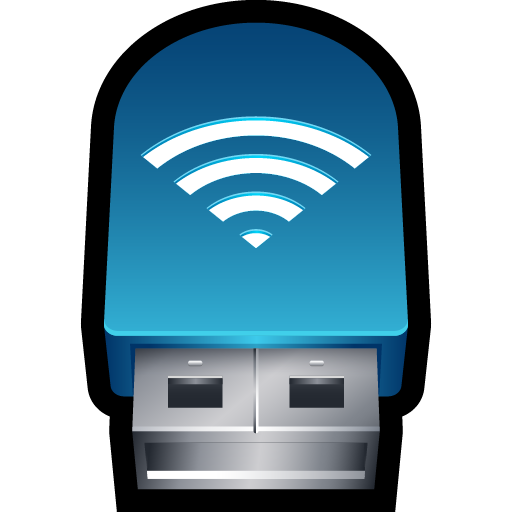 adapter, connection, network, signal, usb, wifi, wireless icon