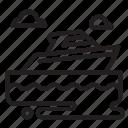 cruiser, sea, ship, vehicle icon