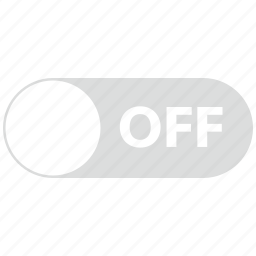 control, off, stop, switch, toggle icon