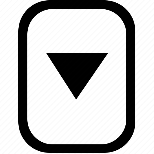 arrow, bottom, down, keyboard, keypad, mobile icon