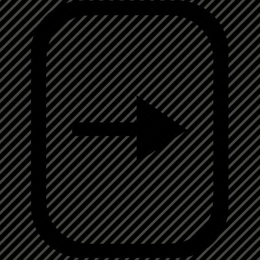 arrow, keyboard, keypad, mobile, next, right icon