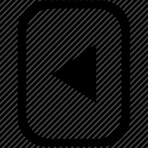 arrow, back, keyboard, keypad, left, mobile, navigation icon
