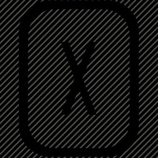 close, del, delete, keyboard, keypad, mobile icon