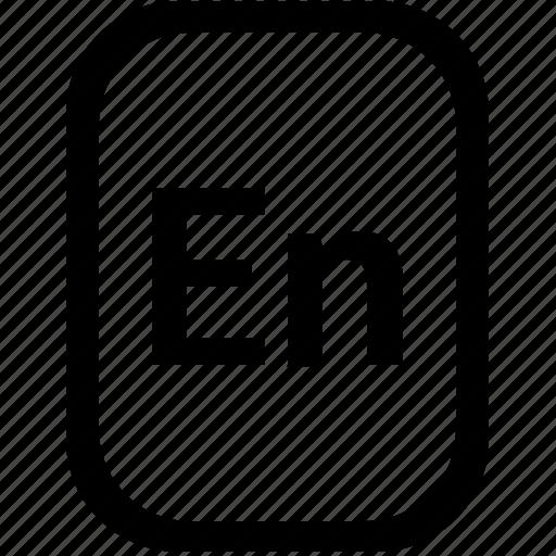 en, english, keyboard, keypad, language, mobile, mode icon