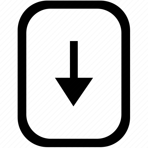 bottom, down, keyboard, keypad, mobile, navigation icon