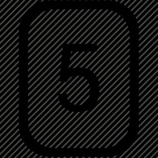 five, keyboard, keypad, mobile, number icon