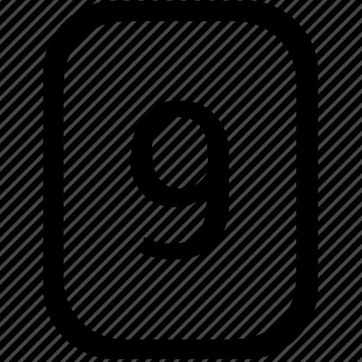 keyboard, keypad, mobile, nine, number icon