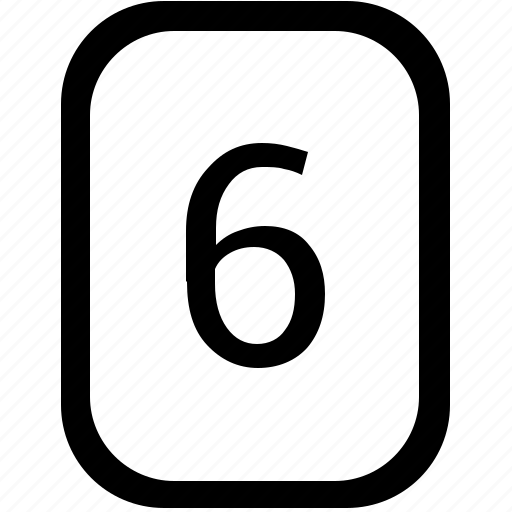keyboard, keypad, mobile, number, six icon