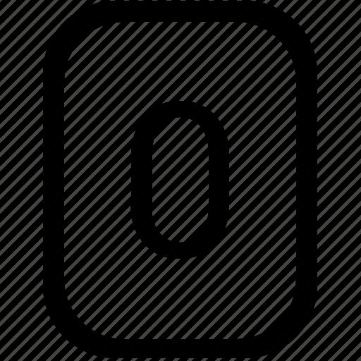 keyboard, keypad, mobile, number, zero icon