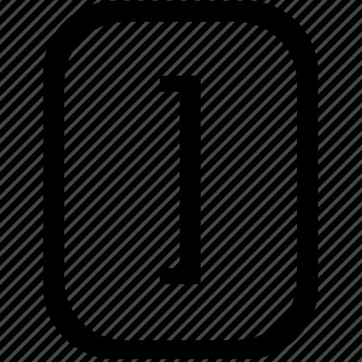 bracket, keyboard, keypad, mobile, right, square icon
