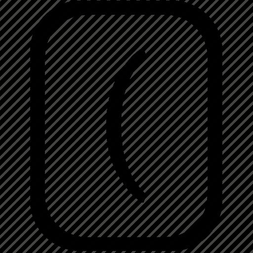 bracket, keyboard, keypad, left, mobile icon