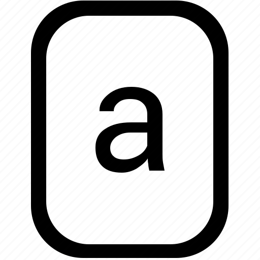 a, alphabet, keyboard, latin, letter, lowcase, mobile icon