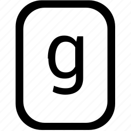 alphabet, g, keyboard, latin, letter, lowcase, mobile icon