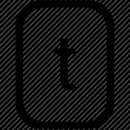 alphabet, keyboard, latin, letter, lowcase, mobile, t icon