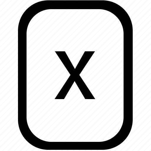 alphabet, keyboard, latin, letter, lowcase, mobile, x icon