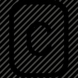 alphabet, c, keyboard, latin, letter, mobile, uppercase icon