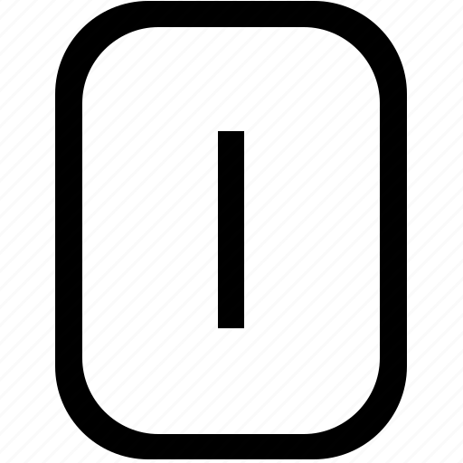 alphabet, i, keyboard, latin, letter, mobile, uppercase icon