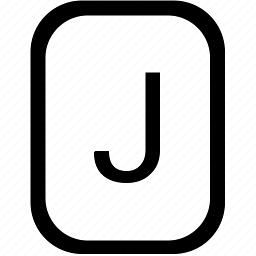alphabet, j, keyboard, latin, letter, mobile, uppercase icon