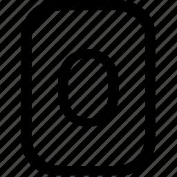 alphabet, keyboard, latin, letter, mobile, o, uppercase icon