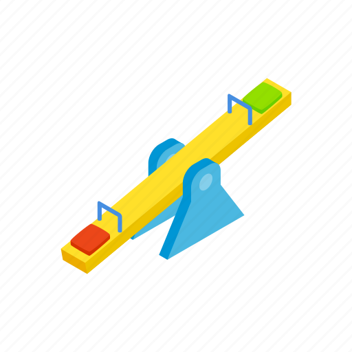 exercise, isometric, outdoor, outside, park, playground, seesaw icon