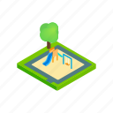 activity, equipment, isometric, outdoor, play, playground, slide icon