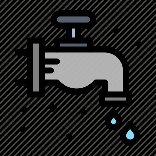 faucet, mechanical, plumber, plumbing icon