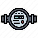 electronics, measurement, meter, water icon