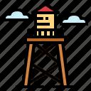 deposit, reservoir, tower, water icon