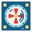 air, equipment, fan, ventilation icon