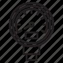 gauge, plump, tools, water icon