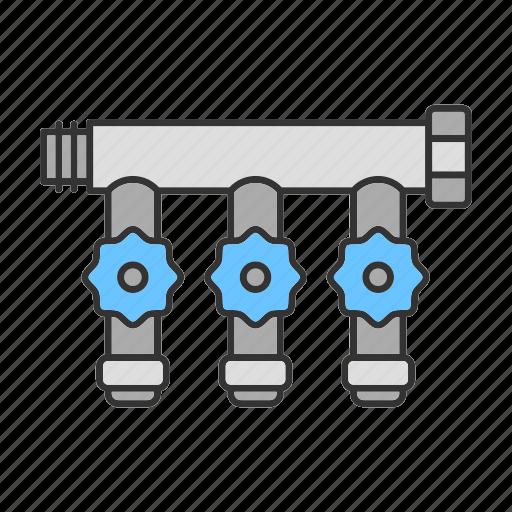 bathroom, bib tap, faucet, manifold, plumbing, tap, water icon